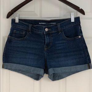Old navy boyfriend style Jean shorts